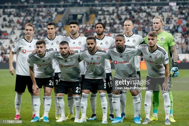 The Besiktas team line up for a photo prior to the UEFA Europa League group K match between Besiktas and Wolverhampton Wanderers at Vodafone Park on...
