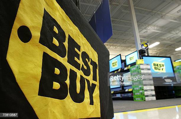 The Best Buy logo is seen on display at a Best Buy store December 12 2006 in San Francisco Best Buy Co reported that thirdquarter earnings rose 87...
