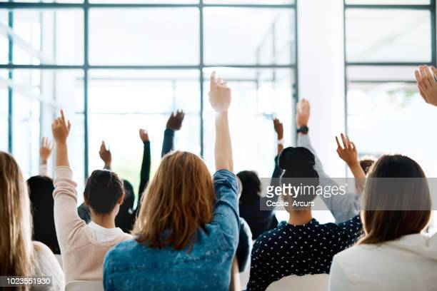 the best conferences are interactive ones - participant stock photos and pictures