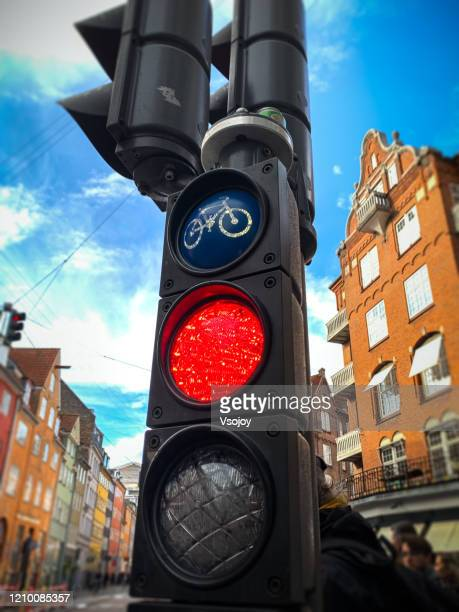 the best cycling friendly city i, copenhagen, denmark - vsojoy stock pictures, royalty-free photos & images