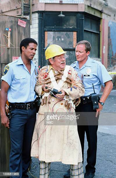 BLUES The Best Defense Episode 703 Pictured Michael Warren as Officer Bobby Hill William Phipps as untitled bomber Charles Haid as Officer Andy Renko