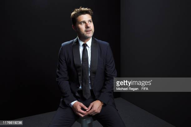 The Best FIFA Men's Coach Award finalist Mauricio Pochettino, Head Coach of Tottenham Hotspur poses for a portrait in the photo booth prior to The...