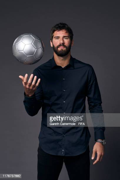 The Best FIFA Men's Goalkeeper Award finalist Alisson Becker of Liverpool and Brazil poses for a portrait ahead of The Best FIFA Football Awards 2019...