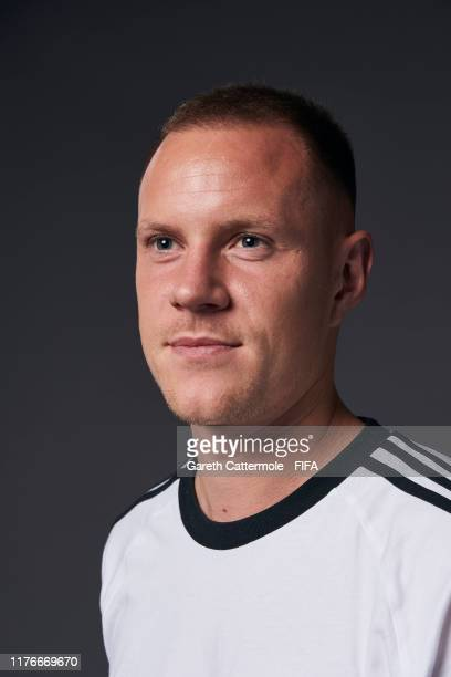 The Best FIFA Men's Goalkeeper Award finalist Marc Andre Ter Stegen of FC Barcelona and Germany poses for a portrait ahead of The Best FIFA Football...