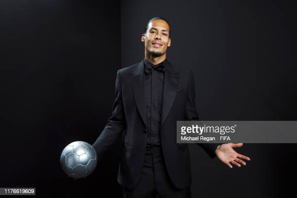 The Best FIFA Men's Player Award finalist Virgil Van Dijk of Liverpool and Netherlands poses for a portrait in the photo booth prior to The Best FIFA...