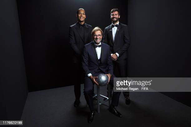 The Best FIFA Men's Player Award finalist Virgil Van Dijk of Liverpool and Netherlands, The Best FIFA Men's Coach Award finalist Juergen Klopp, Head...