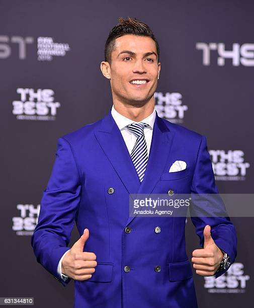 The Best FIFA Men's Player Award nominee Real Madrid's Cristiano Ronaldo arrives for the The Best FIFA Football Awards at TPC Studio in Zurich...