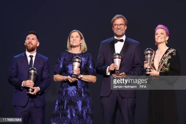 The Best FIFA Men's Player Award Winnrer Lionel Messi of FC Barcelona and Argentina The Best FIFA Women's Coach Award Winner Jill Ellis of United...