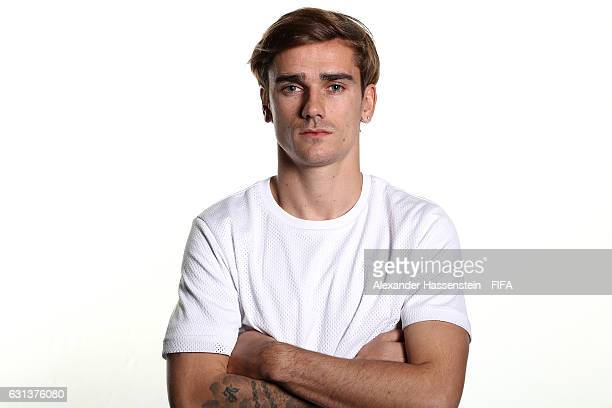 The Best FIFA Men's Player nominee Antoine Griezmann of France and Atletico Madrid poses prior to The Best FIFA Football Awards at Kameha Zurich...
