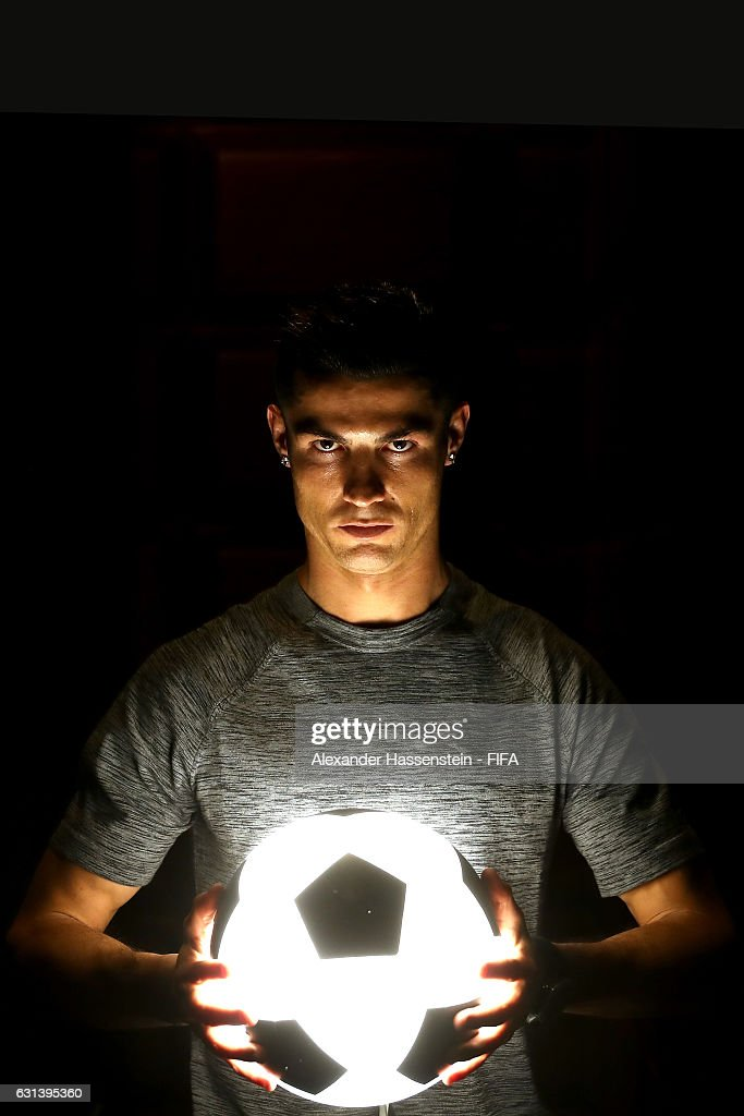 The Best FIFA Men's Player nominee Cristiano Ronaldo of Portugal and Real Madrid poses prior to The Best FIFA Football Awards at Kameha Zurich Hotel on January 9, 2017 in Zurich, Switzerland.