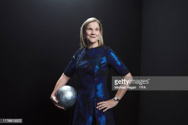 The Best FIFA Women's Coach 2019 award finalist Jill Ellis of United States poses for a portrait in the photo booth prior to The Best FIFA Football...
