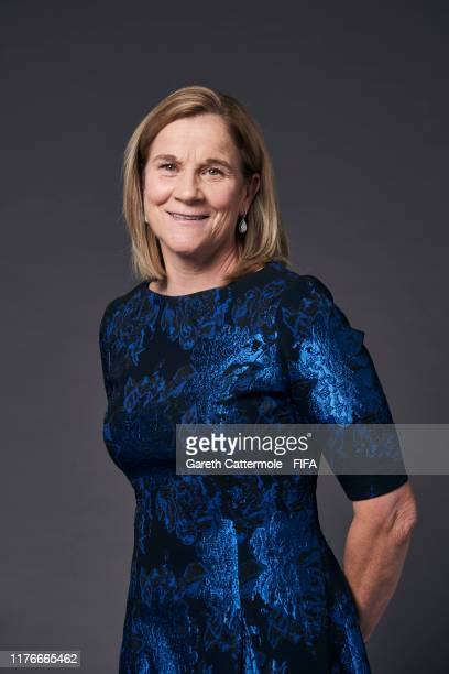 The Best FIFA Women's Coach 2019 award finalist Jill Ellis of United States poses for a portrait ahead of The Best FIFA Football Awards 2019 at...