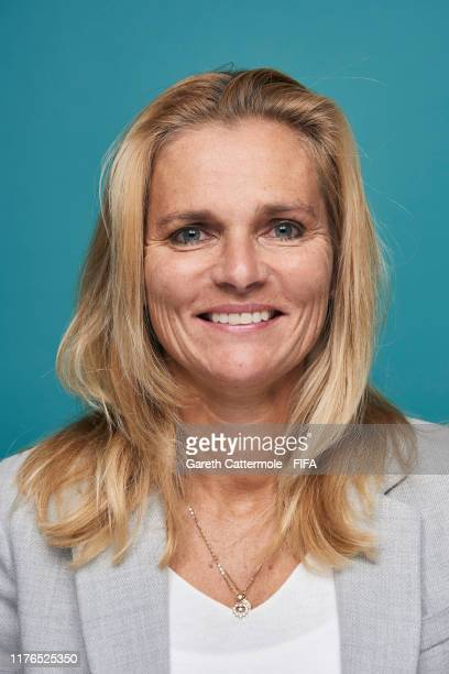 The Best FIFA Women's Coach 2019 award finalist Sarina Wiegman head coach of Netherlands Women poses for a portrait ahead of The Best FIFA Football...