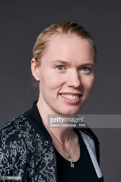 The Best FIFA Women's Goalkeeper 2019 award finalist Hedvig Lindahl of Wolfsburg and Sweden poses for a portrait ahead of The Best FIFA Football...