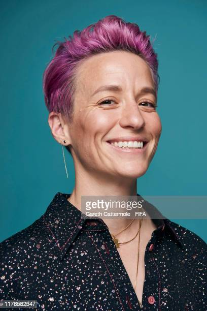 The Best FIFA Women's Player Award finalist Megan Rapinoe of Reign FC and United States poses for a portrait ahead of The Best FIFA Football Awards...