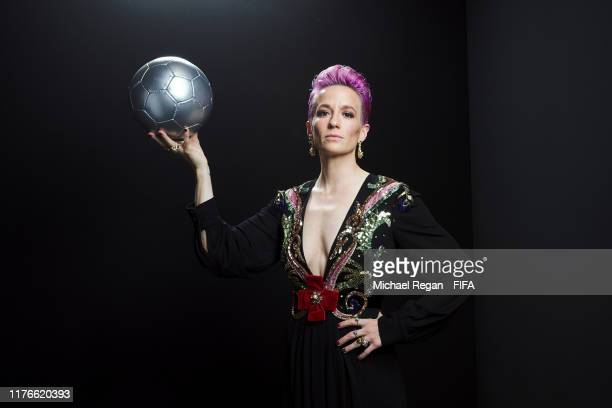 The Best FIFA Women's Player Award finalist Megan Rapinoe of Reign FC and United States poses for a portrait in the photo booth prior to The Best...
