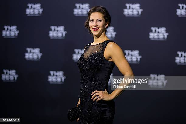 The Best FIFA Women's Player Award nominee Carli Lloyd of the United States and Houston Dash arrives for The Best FIFA Football Awards 2016 on...