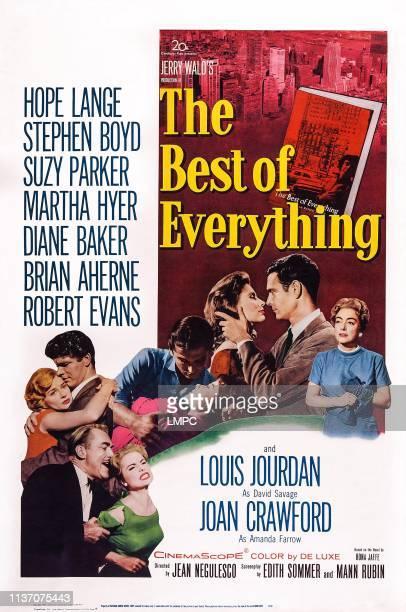 The Best Of Everything poster US poster art from bottom Martha Hyer Brian Aherne Hope Lange Stephen Boyd Robert Evans Diane Baker Suzy Parker Louis...