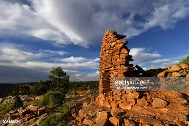 The best preserved of seven towers at the Mule Canyon Cave Towers site just one of more than 100000 archaeological sites in the Bears Ears National...