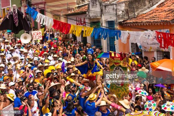 the best street carnival in the world - frevo imagens e fotografias de stock