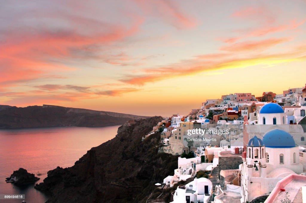 The Best Sunset in Santorini : Stock Photo