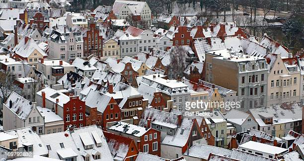 The best view overlooking the old town of Lübeck you get from the tower of a church called St. Petri. Specially in winter it looks like miniature...