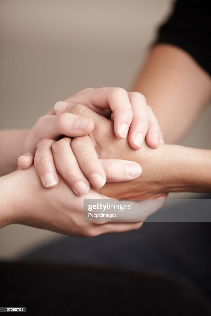 The best way to console is by simply being there.. : Stock Photo