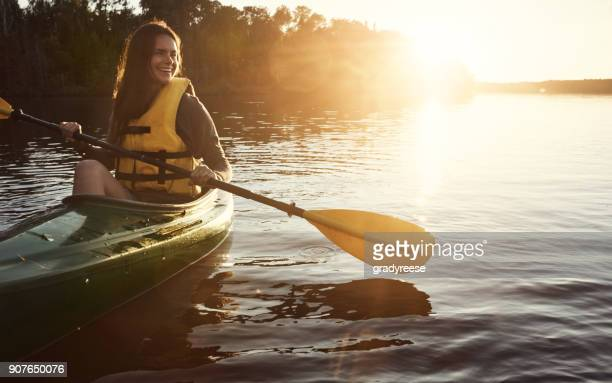 the best way to start the day - canoe stock pictures, royalty-free photos & images