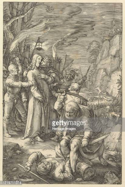 The Betrayal of Christ from The Passion of Christ 1598 Artist Hendrik Goltzius