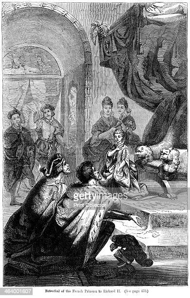 The betrothal of Isabella of Valois to King Richard II 1396 Richard was King of England from 1377 to 1399 having succeeding his grandfather Edward...