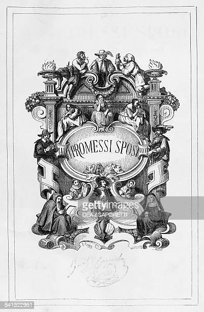 The Betrothed title page by Francesco Gonin for the 18401842 edition of the novel by Alessandro Manzoni Italy 19th century
