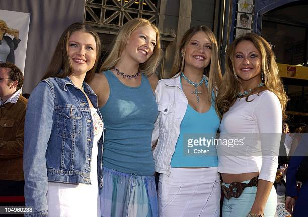 The Beu Sisters during The Lizzie McGuire Movie Premiere at The El Capitan Theater in Hollywood California United States