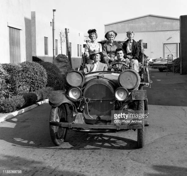 The Beverly Hillbillies a CBS television situation comedy Episode Duke Steals a Wife Pictured from left in back row is Bea Benaderet Donna Douglas...
