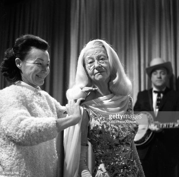 The Beverly Hillbillies The Beverly Hillbillies episode Flatt Clampett and Scruggs Left to right hair stylist Frances Sperry and Irene Ryan...