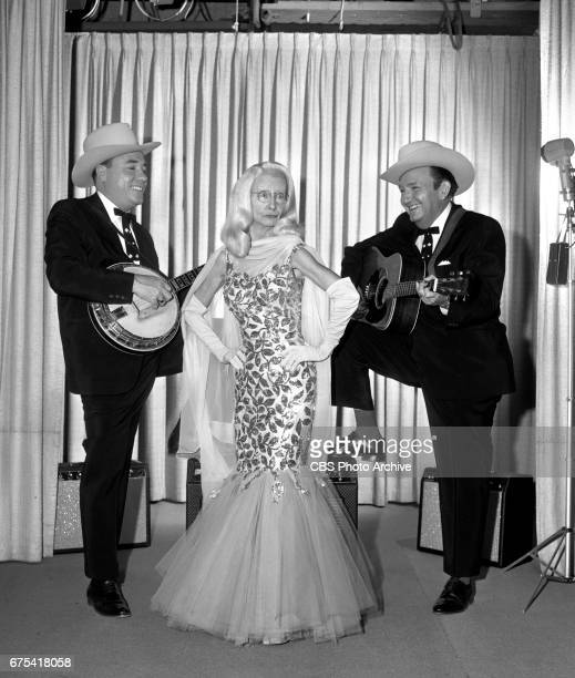 The Beverly Hillbillies The Beverly Hillbillies episode Flatt Clampett and Scruggs Pictured from left is banjo player Earl Scruggs Irene Ryan and...
