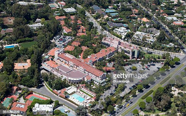The Beverly Hills Hotel also called The Beverly Hills Hotel and Bungalows is a hotel on Sunset Boulevard in Beverly Hills California