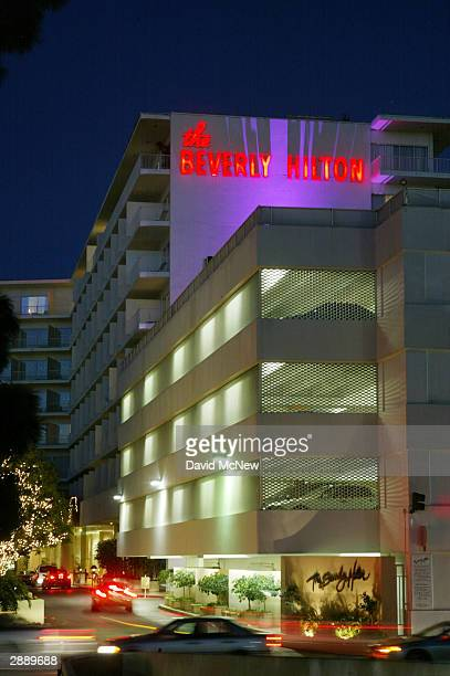 The Beverly Hilton hotel is seen on January 21 2004 in Beverly Hills California The hotel will host the 61st Annual Golden Globe Awards on January 25