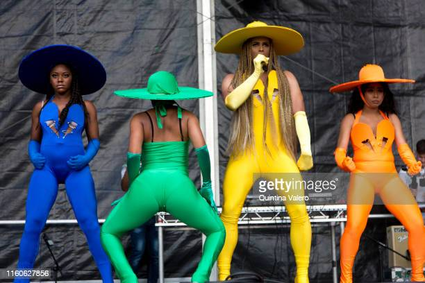 The Beyonce Experience performing at the UK Black Pride in Haggerston Park in London United Kingdom on July 7th 2019