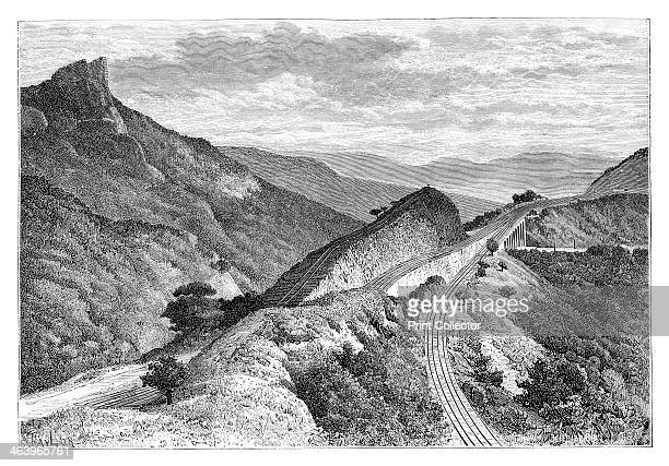 The Bhor Ghat near Khandala India 1895 From The Universal Geography with Illustrations and Maps division XVI written by Elisee Reclus and published...