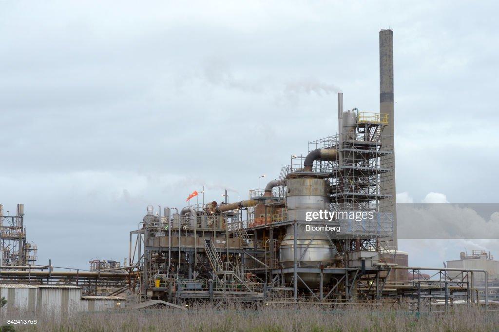 The BHP Billiton Ltd  Nickel Refinery stands in the port