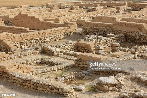 The biblical tells of Beer Sheba. Fifteen strata of settlement have been discovered at Tel Be'er Sheba, from Chalcolitic to the Early Arab perido.