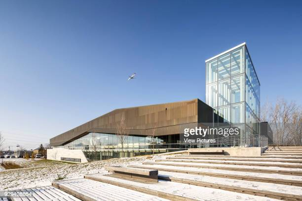 The Bibliothèque du Boisé Montreal Canada Architect Lemay Architectes 2013 The raised landscaped terrace is a small cultural intersection situated...