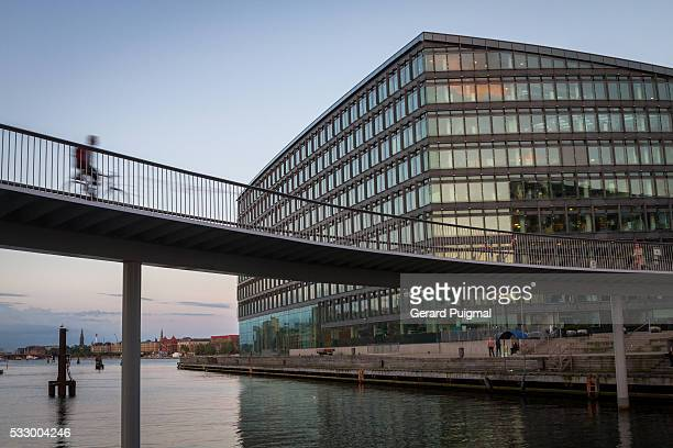The Bicycle Snake over the Bryggebro bridge in Copenhagen