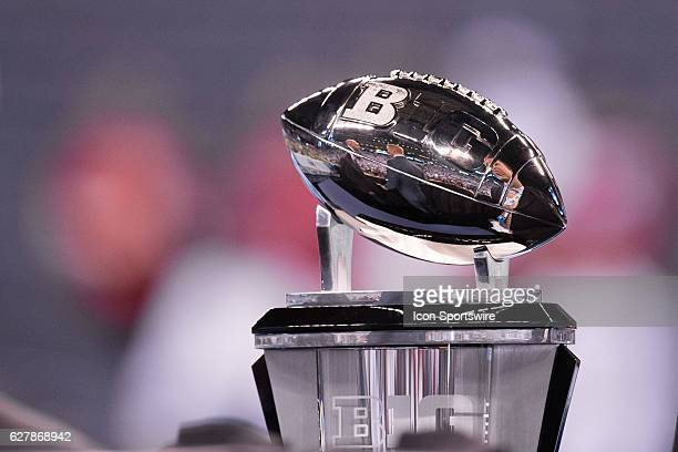 The Big 10 Championship trophy during the Big 10 Championship game between the Penn State Nittany Lions and Wisconsin Badgers on December 3 at Lucas...