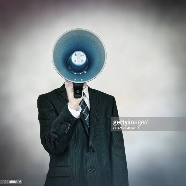 the big announcement - megaphone stock pictures, royalty-free photos & images