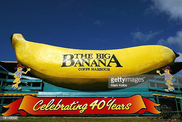 """The """"Big Banana"""" is seen on February 25, 2006 in Coffs Harbour, Australia. There are now close to 150 """"Big Things"""" around Australia. The trend began..."""