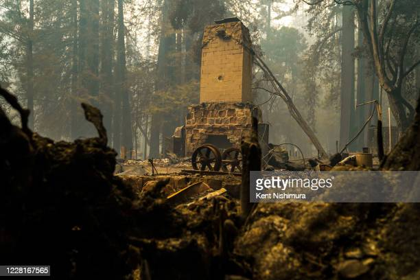 The Big Basin Redwoods State Park Headquarters & Visitor Center which was built in 1936 was one of the structures lost to the blaze that tore through...