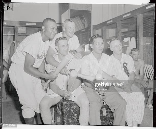 The big bats of these players Larry Doby Ray Boone Al Rosen Bobby Avila and Nellie Fox helped the American League belt the National League 119 in the...