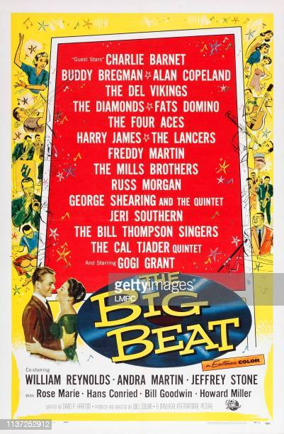 The Big Beat, poster, US poster art, bottom from left: William Reynolds, Andra Martin, 1958.
