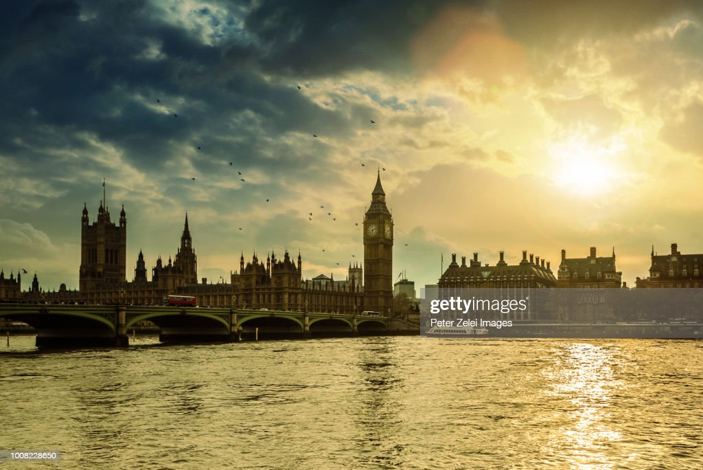 The Big Ben And The House Of Parliament In London Uk Stock Photo